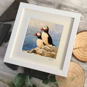 Cliff Towler Two Puffins