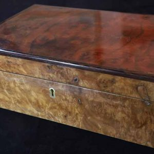 Brendan Gallagher Traditional style jewellery box in burr walnut