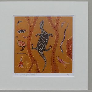 Phillip Goble 'Goanna goes walkabout' Limited Edition Print is available on the Art4Action auction in December