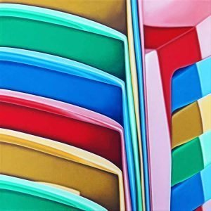 Stacked plastic chairs 4