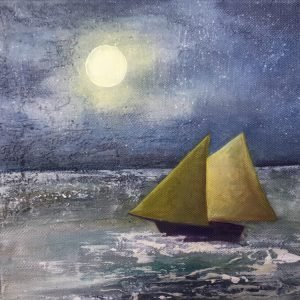 Swanage sailing by moonlight