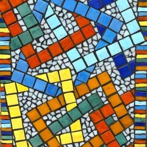 Kitty Hartnell Colourful squares mosaic
