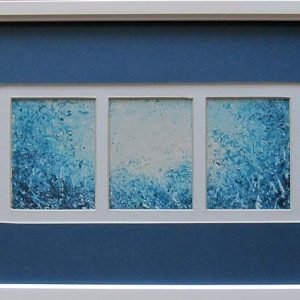 Blue Triptych is an original framed artwork by Roger Lockey