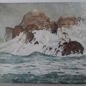 February Storms. Man of War Bay is an original painting by Wareham artist David Cole.