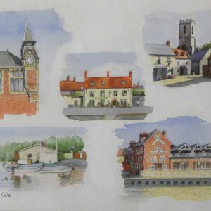 Iconic Wareham is a Giclee print by artist David Cole.