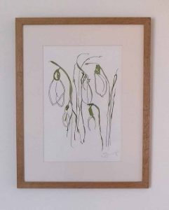 Magical Snowdrops is a framed original painting