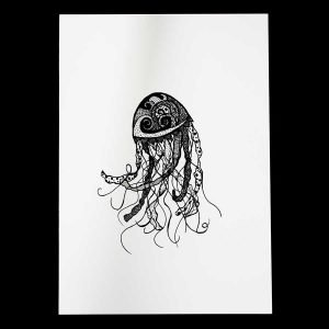 Jellyfish Art print by Skulls and Lilies
