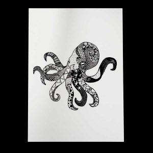 Octopus Art print by Skulls and Lilies
