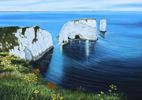 Old Harry with Flowers by Annie Lovelass