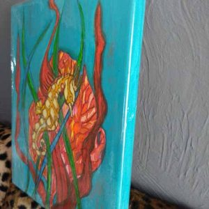 Seahorse painting detail
