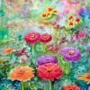 Summer Flower Border by artist Roger Lockey.