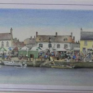 Wareham Wednesdays is a Giclee print by local artist David Cole.
