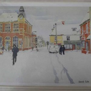 Wareham Winter is a Giclee print by local artist David Cole.