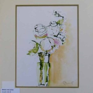 White Rose Posy by Wendy Jump