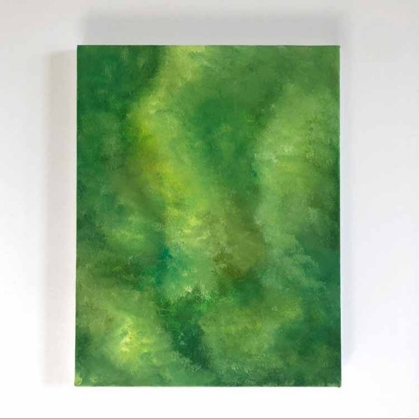 Above the forest is a framed original acrylic painting by Purbeck artist Katie Owen.
