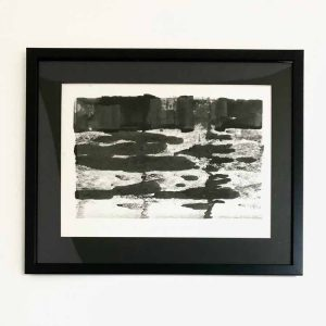 Cliff 2 is a framed original ink painting by Purbeck artist Katie Owen.