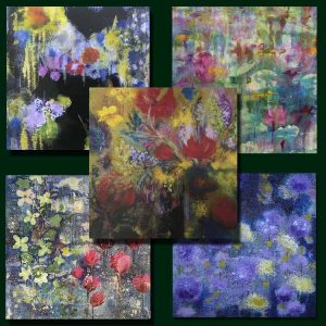 Floral Card 5 pack set by Kitty Wass