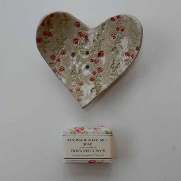 Stoneware soap dish made by Fiona Kelly