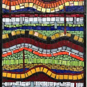 Jurassic Layers is a hand-crafted mosaic by Dorset artist Kitty Hartnell