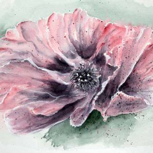 Pink Poppy is an original painting by Dorset Artist Jill Marsden.