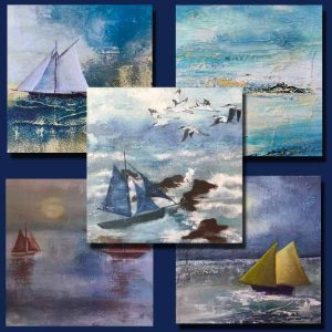 Sailing Card 5 pack set by Kitty Wass