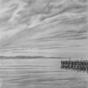 By the Sea is a graphite pencil on paper artwork by Dorset artist Ian Hedley