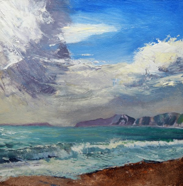 'Fresh Breeze Across the Bay' is a painting by Dorset artist Paul Longland