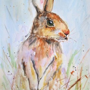 Hare Sitting by Marjan's Art