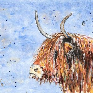 Highland Cow by Marjan's Art