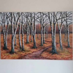 Through the Trees is an original painting by Linda Courtne