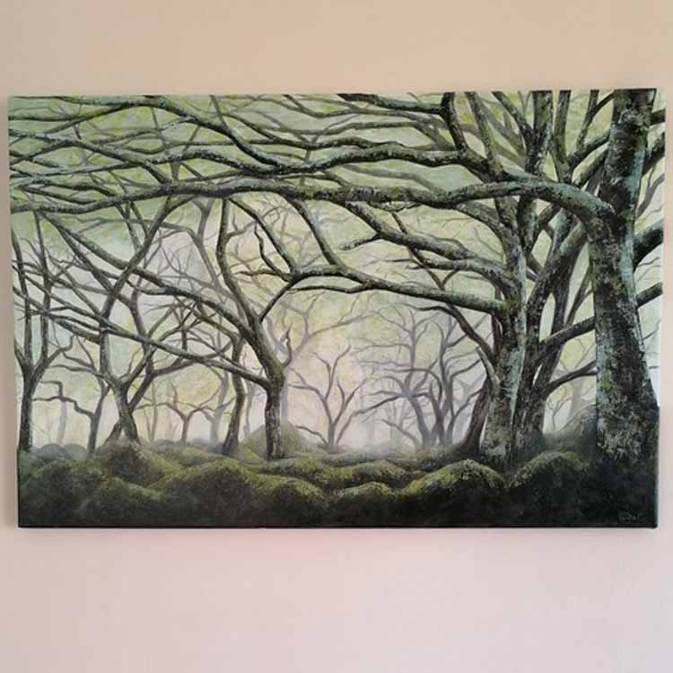 Wistmans Wood is an original painting by Linda Courtney