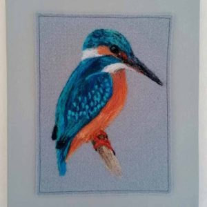 King Fisher is a textile artwork by Linda Courtney