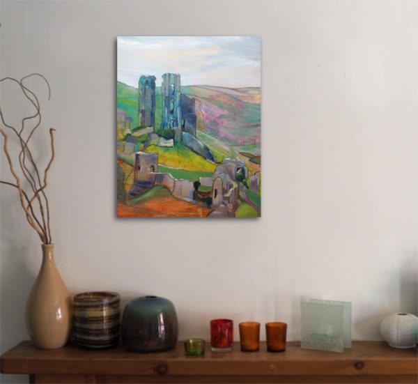 Painting of Corfe Castle