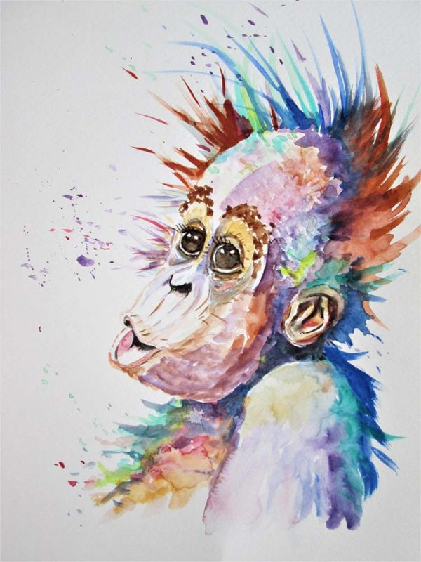Orangutan by Marjan's Art