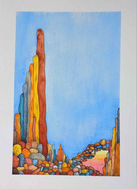 Just another day is an original painting for sale by local Dorset artist Maryanne Pitman.