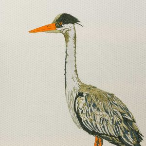 The Heron limited edition print by Dorset artist Laura Butt.