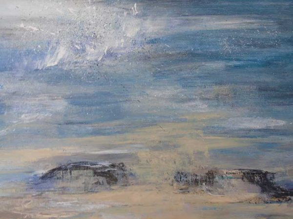 Freshening Breeze off Shell Bay' is a framed original painting by Dorset artist Jude Taylor