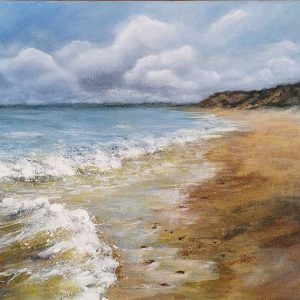 HENGISTBURY ROLLING SURF Original acrylic painting on stretched canvas,