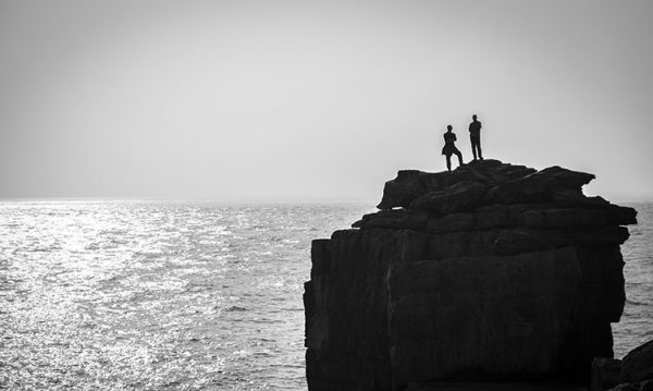 On top of the world photographic print taken at Portland Bill/United Kingdom.