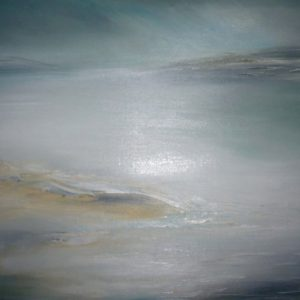 'Purbeck Mist' is a framed original painting by Dorset artist Jude Taylor.